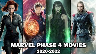 Upcoming Marvel Phase 4 Movies 2020 to 2022 - Announced