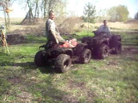 Honda 90 Atv >> honda polaris atv mudding 4 wheeler fun - YouTube