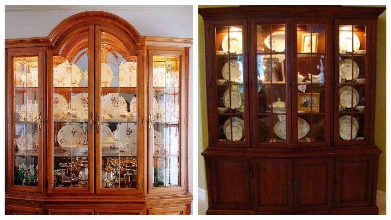Latest and upcoming showcase cabinet wood crockery cabinet ideas