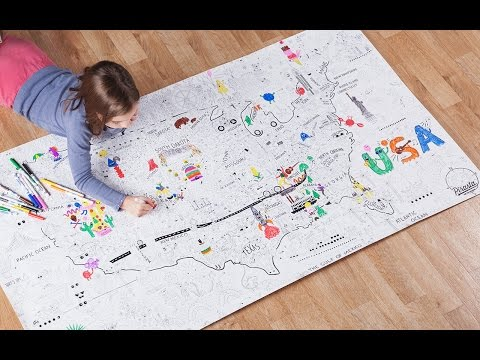 The biggest darn coloring book you've ever seen.