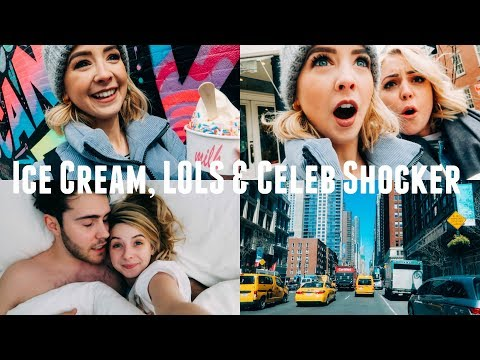 ICE CREAM, LOLS & CELEB SHOCKER | NYC VLOGS