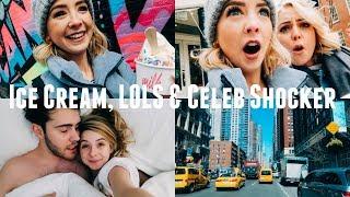 ICE CREAM, LOLS & CELEB SHOCKER | NYC VLOGS