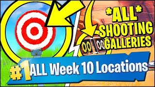 GET A SCORE OF 5 OR MORE AT THE SHOOTING GALLERY EAST OF WAILING WOODS (Fortnite Week 10)