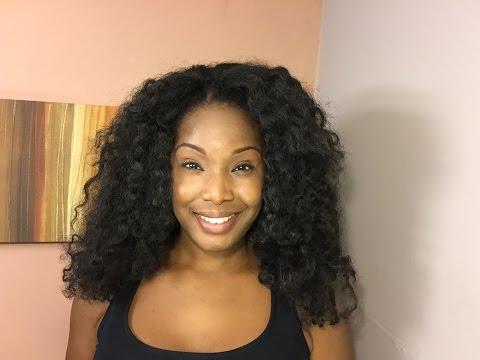 U Part Wig And Knotless Crochet Install Using Cuban Twist Hair