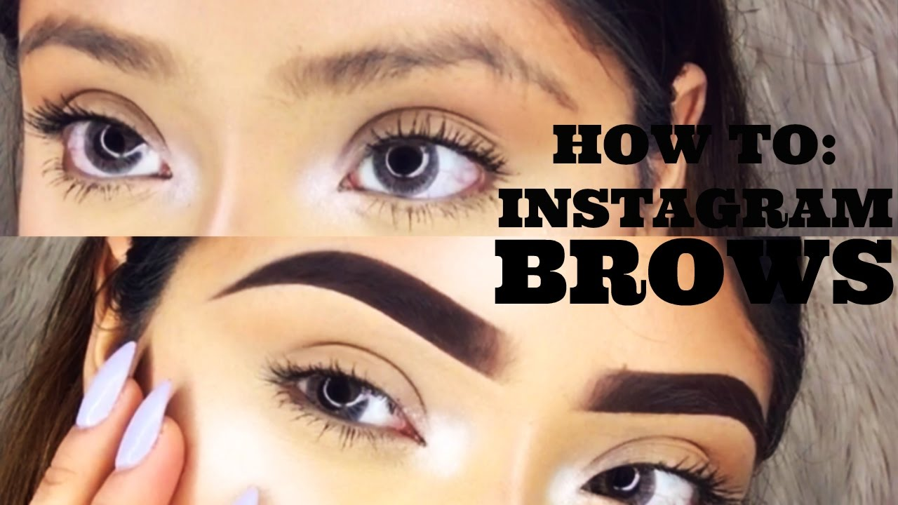 HOW TO INSTAGRAM BROWS | ViiRDii - YouTube