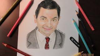 Speed Drawing of Mr. Bean | Rowan Atkinson