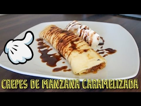 CREPES DE MANZANA CARAMELIZADA