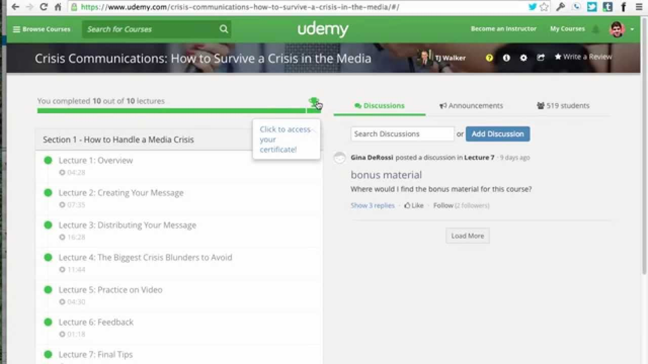 How To Get Udemy Certificate Youtube