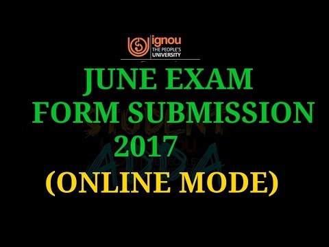 [IGNOU] june exam form submission online