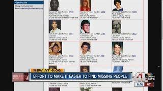 Effort to make it easier to find missing people