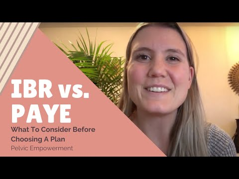 IBR vs. PAYE || Watch this before choosing a plan