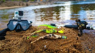 River Treasure: Fishing with FOUND Lure Challenge!! (Crusty Lures)