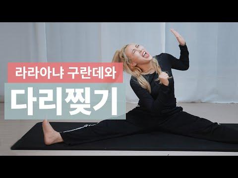 미친 저세상텐션! 라라아냐구란데 언니와 함께 집에서 다리찢기 도저언 !!! Daily leg stretching challenge!