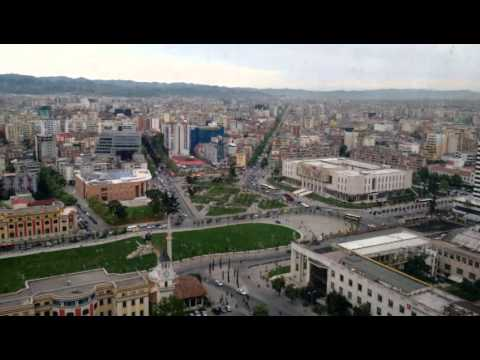 Tirana from TID Tower 2015