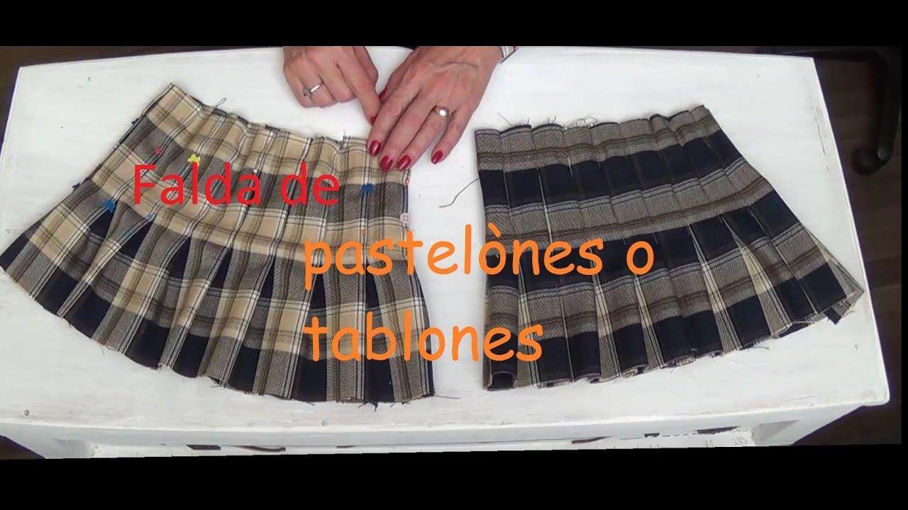 e3d23a2d4 Falda de tablones o pastelones 1ª parte Clase # 64