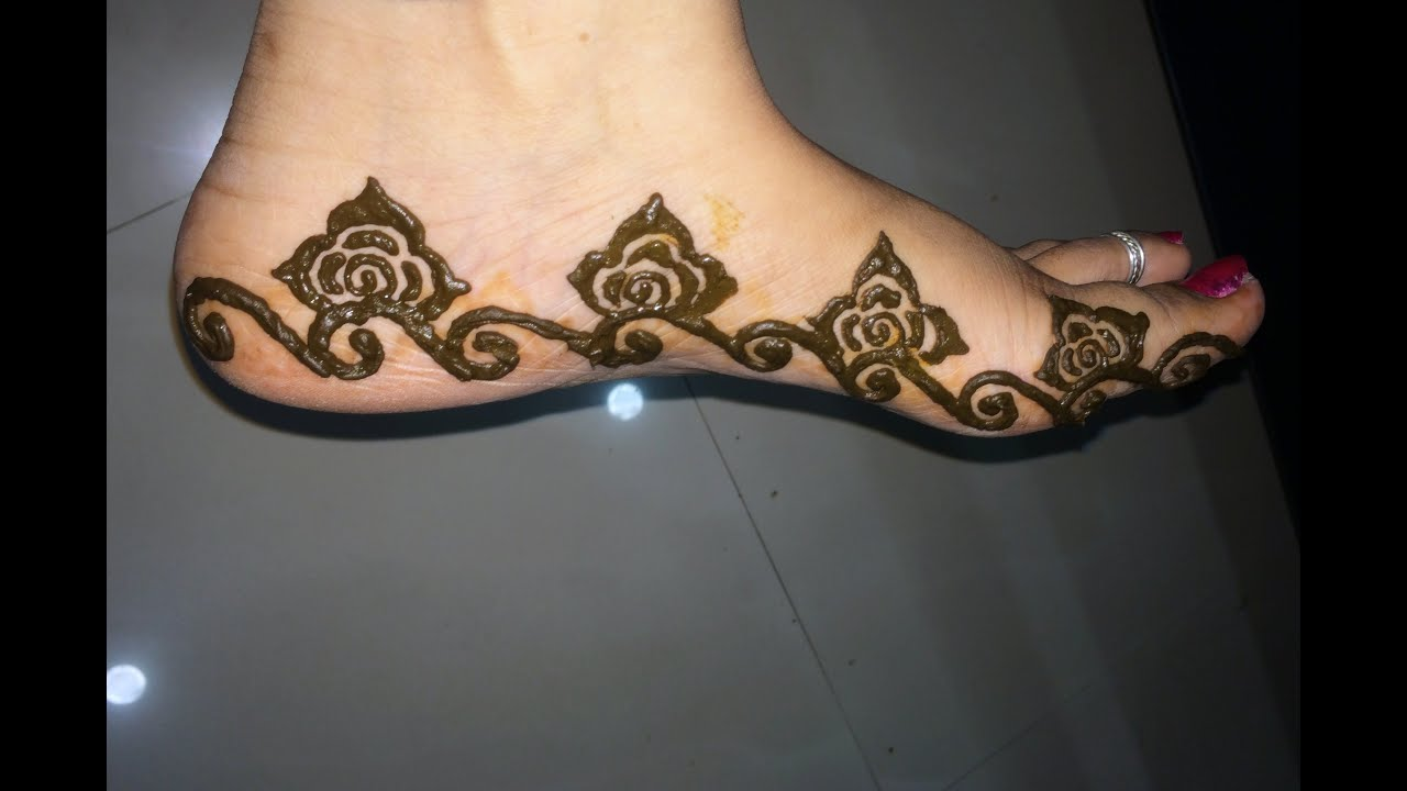 Simple Leg Mehndi Designs : Simple mehandi designs for legs pixshark