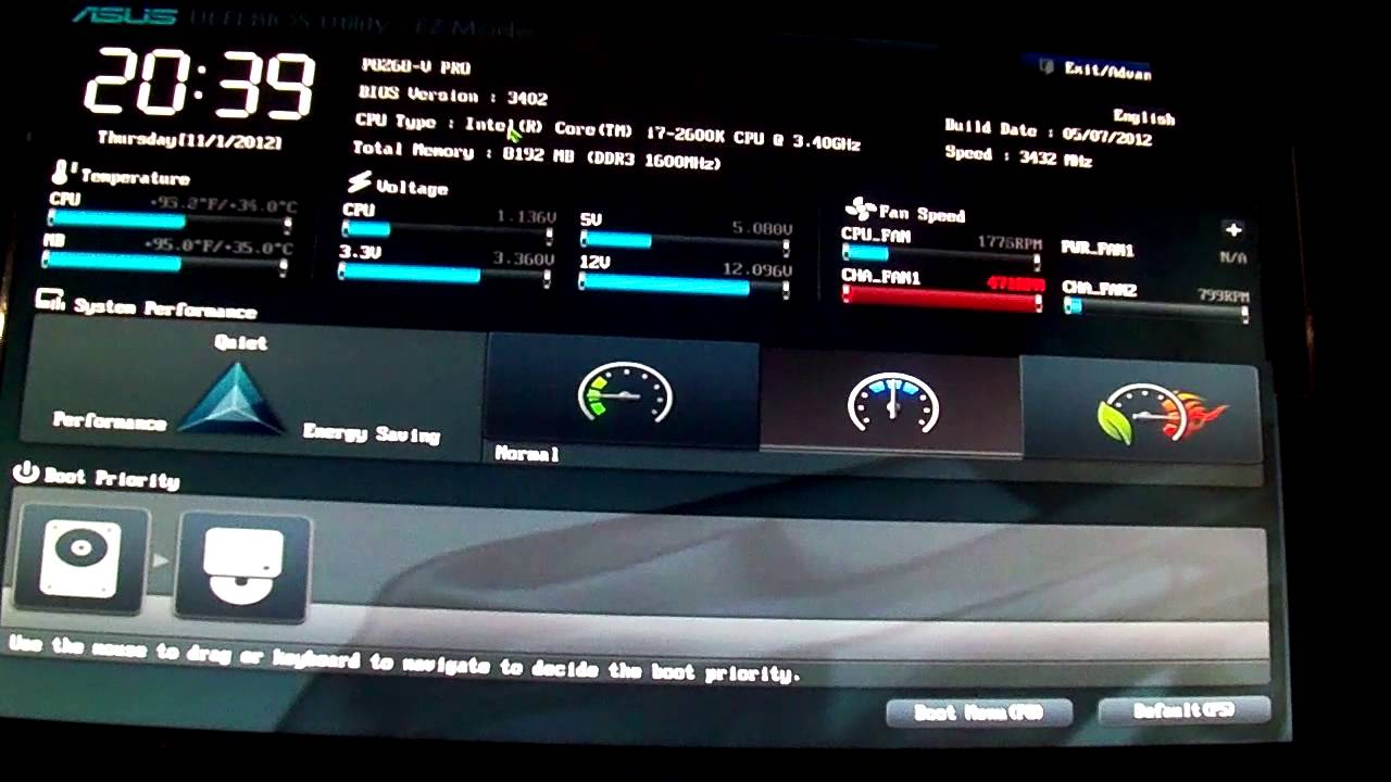 Asus P8Z68-V BIOS 3402 Drivers
