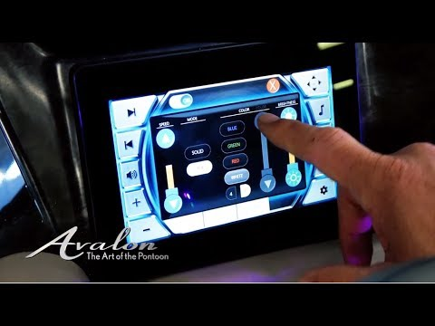 2018 Pontoon Boat HIGH-END DISPLAYS | Premium Medallion Lighting Controls | Avalon Luxury Pontoons