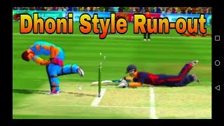 Wcc2 Dhoni Style Run-Out