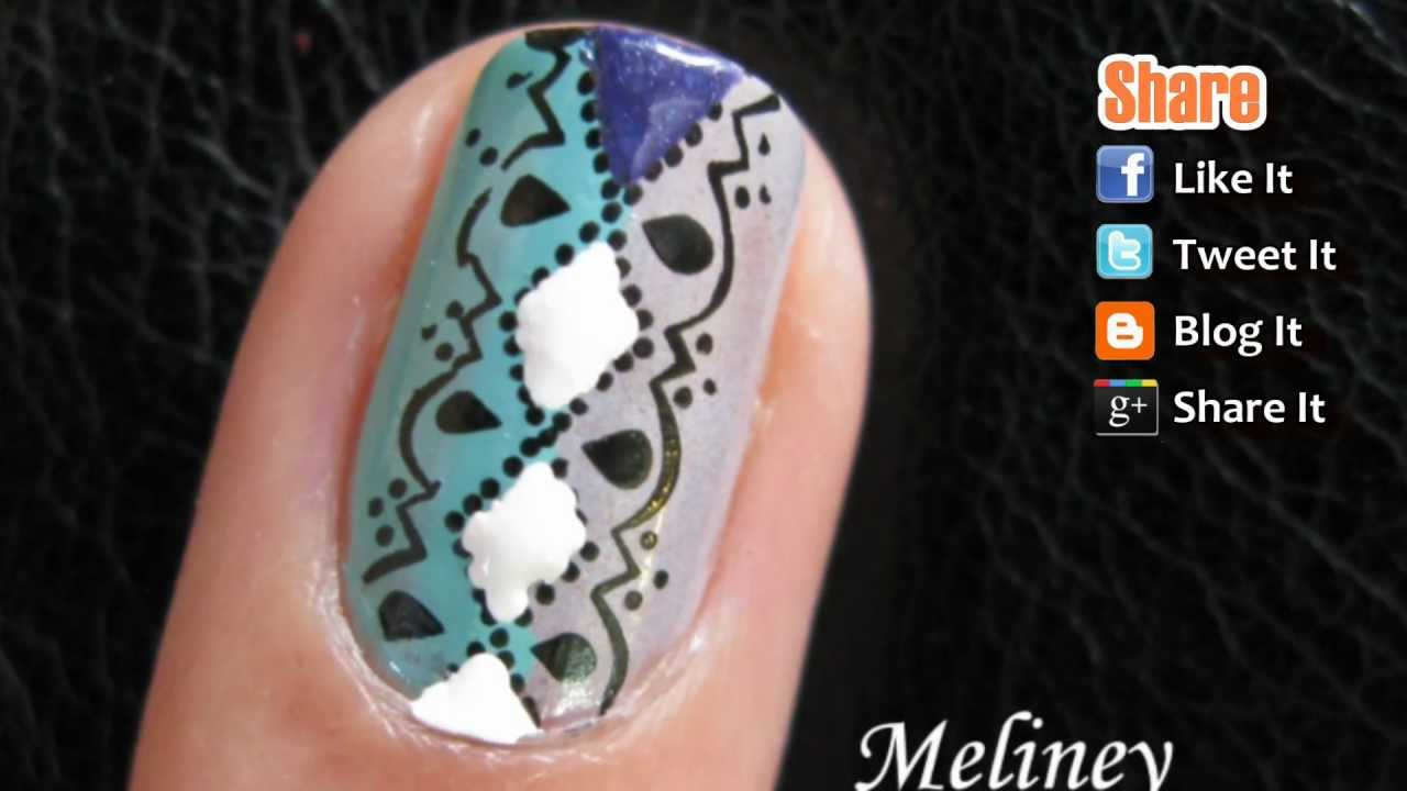 Cute Designer Nails - Plaid Back to School Konad Stamping Nail Art ...