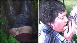 After Neighbors Heard Desperate Cries Coming From A Drainpipe, This Woman Crept In To Investigate