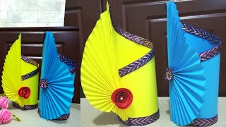 How To Make Flower Vase Flower Vase With Paper New Style Vase