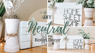 DIY DOLLAR TREE NEUTRAL ROOM DECOR | DECORATIVE STACKED BOOK STORAGE BOX