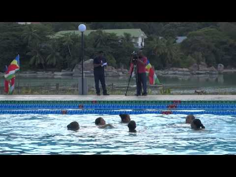 Seychelles First Synchronize Swimming
