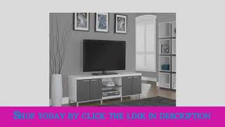 Check Monarch Specialties White Grey Hollow Core TV Console, 60 Inch Top List