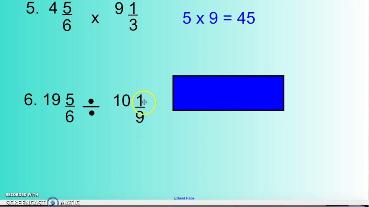 6th Grade 5-1-2 Estimating Products and Quotients - YouTube
