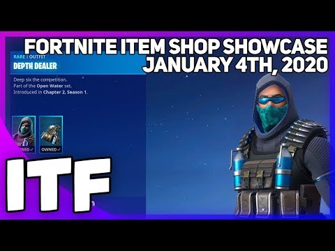 Fortnite Item Shop *NEW* DEPTH DEALER SKIN SET! [January 4th, 2020] (Fortnite Battle Royale)