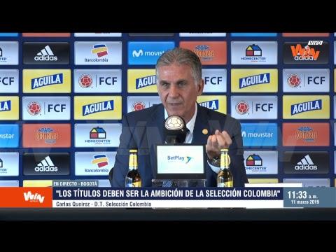 Rueda de prensa de Carlos Queiroz sobre la convocatoria de selección Colombia