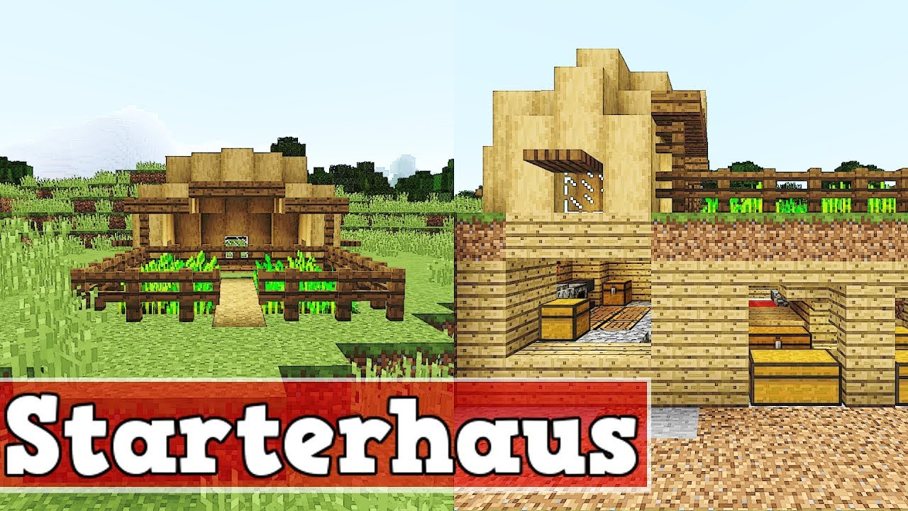 wie baut man ein starter haus in minecraft minecraft starter haus bauen deutsch tutorial youtube. Black Bedroom Furniture Sets. Home Design Ideas