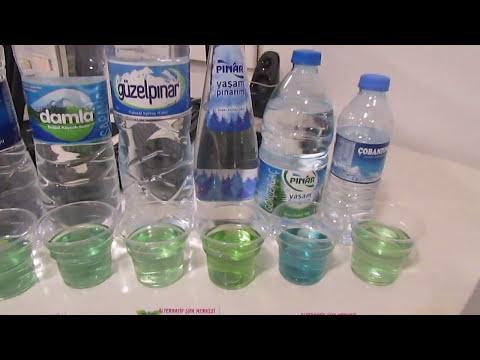 Piyasadaki Suların PH Testi ! İzlemeden su almayın.