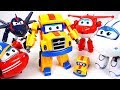 Super wings s2 Poppa Wheels transformer robot toy and surprise egg play - DuDuPopTOY