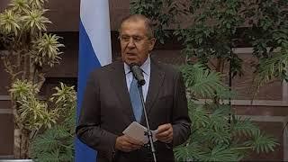 Выступление С.В.Лаврова на выставке, посвященной Ф.Кастро