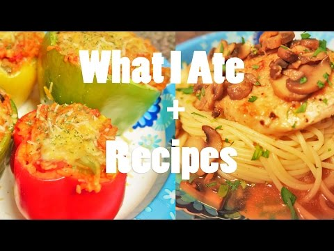 Meatless Stuffed Peppers & Chicken Marsala // Recipes & What I Ate