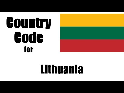 Lithuania Dialing Code - Lithuanian Country Code - Telephone Area Codes In Lithuania