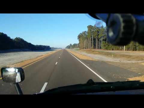 Truck driving in Mississippi