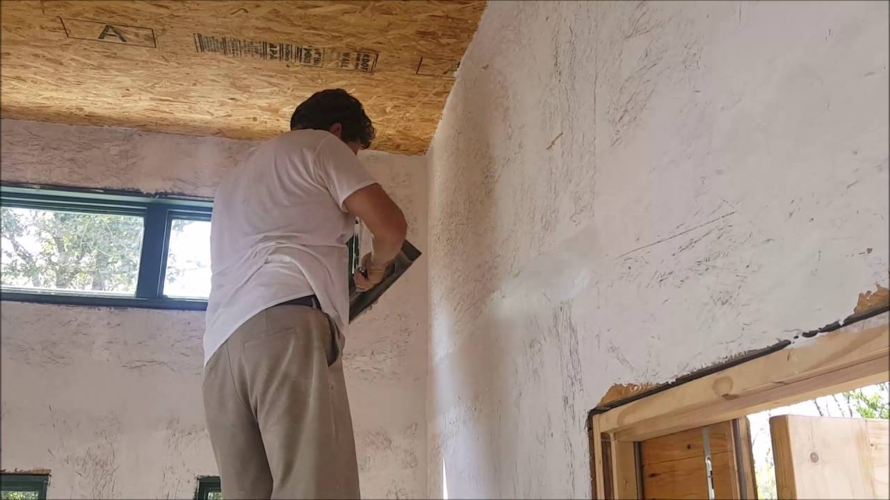 Plastering & Painting OSB walls the Houses Built Tiny way?