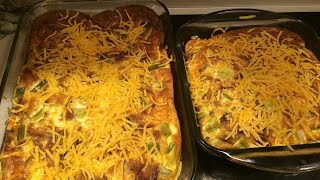 Bacon, Egg, and Cheese Oven Bake  Large Family Style Cooking Vlog!