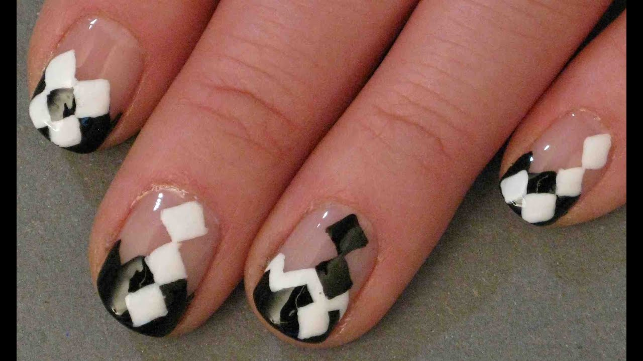 Argyle-ish Free Hand Nail Art Design - YouTube