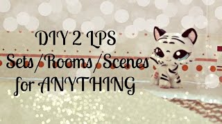 Diy 2 Lps Set/room/scene For Anything