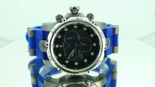 AJ5 6927 Mens Ice King Venom Chrono Rotating Dial Silicone Watch Blue Silver Gun