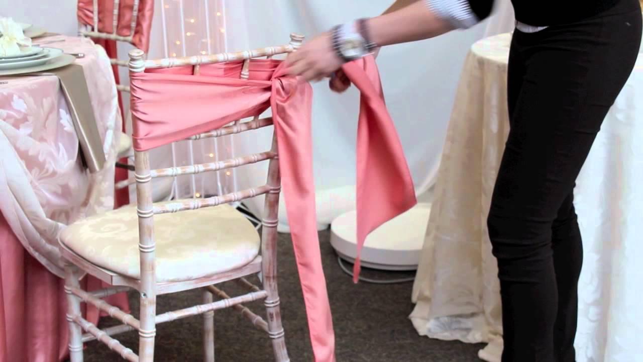 DIY Chair Tie Rosette  YouTube