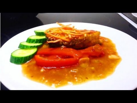 How To Cook Salmon Fish Cara Memasak Ikan Salmon Youtube