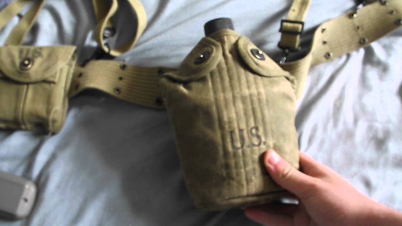 Ww2 U S Infantry Webbing Set Up