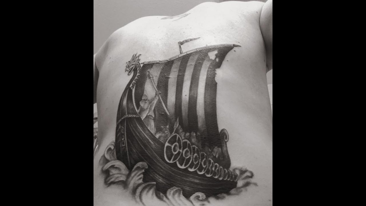 Viking Ship Tattoo Timelapse  YouTube