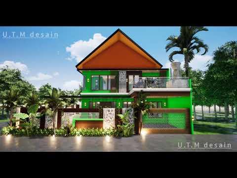 desain rumah minimalis modern tropis 2 lantai atap pelana