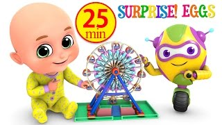 Kids Toys - Giant Wheel Ride at amusement park - Surprise Eggs unboxing Toys for Kids